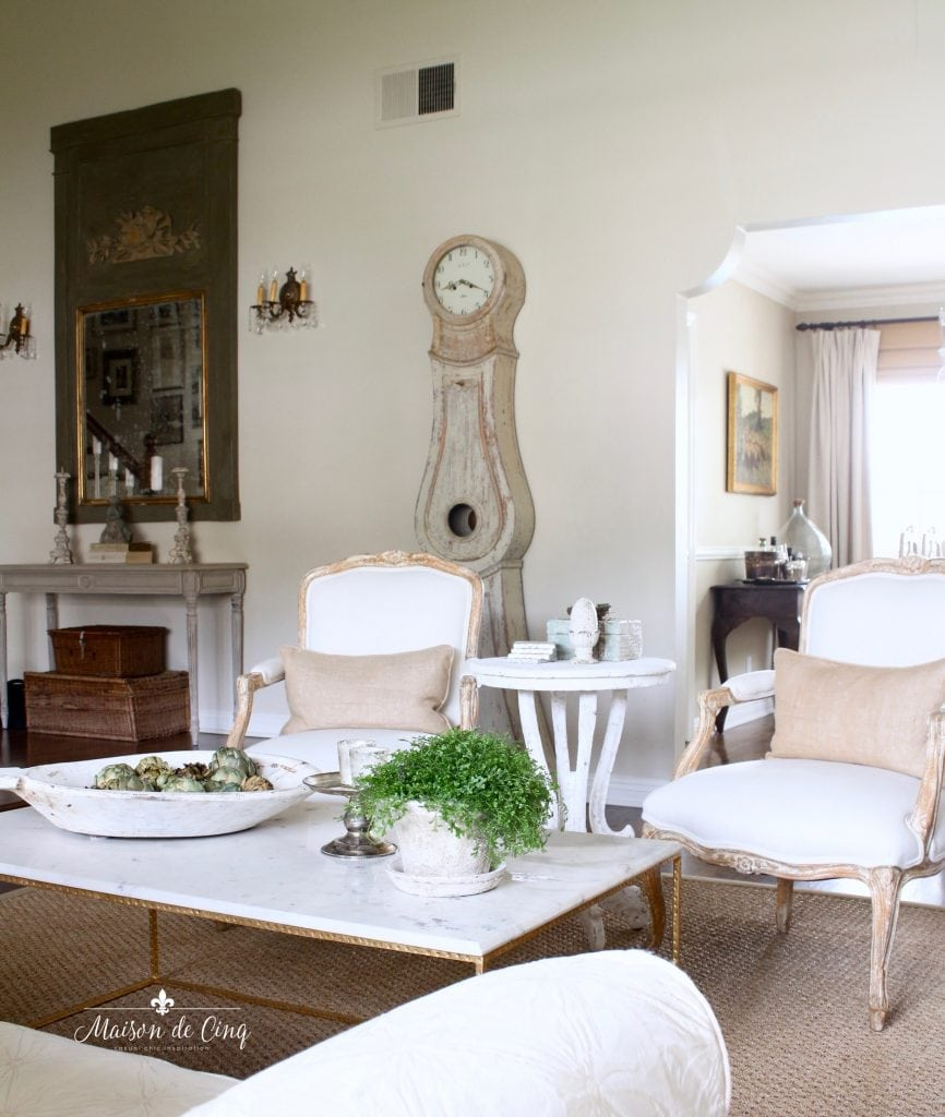 five spring decorating tips use plants french country living room mora clock neutral decor
