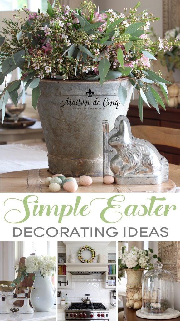 simple Easter decorating ideas spring decor farmhouse kitchen