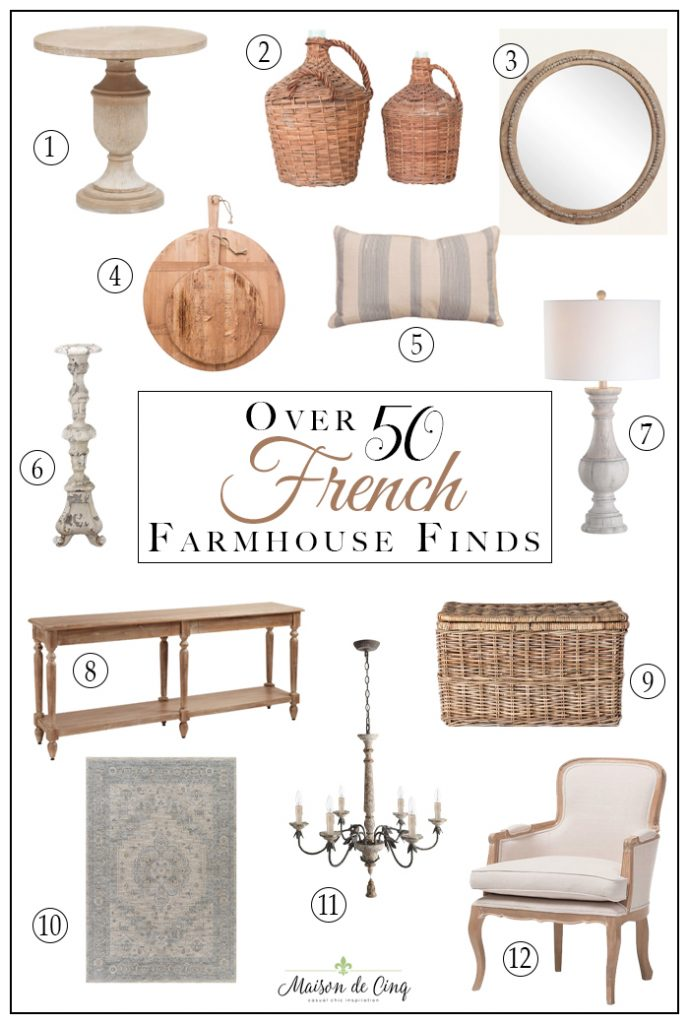 How to Get a French Farmhouse Look - and 50 Fabulous Finds!