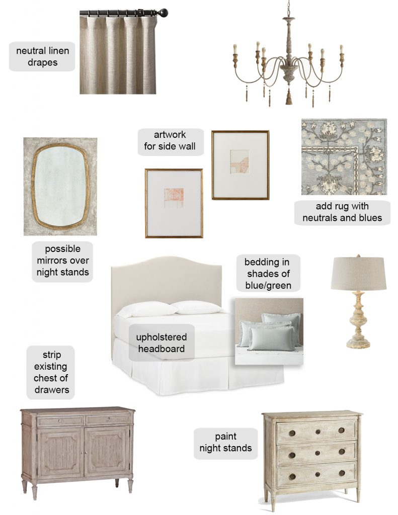 french farmhouse country master bedroom makeover mood board