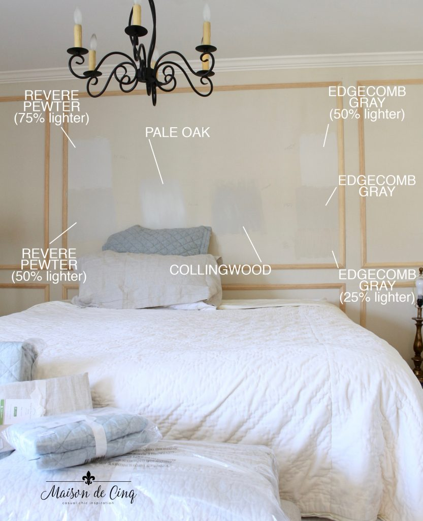 paint choices master bedroom one room challenge
