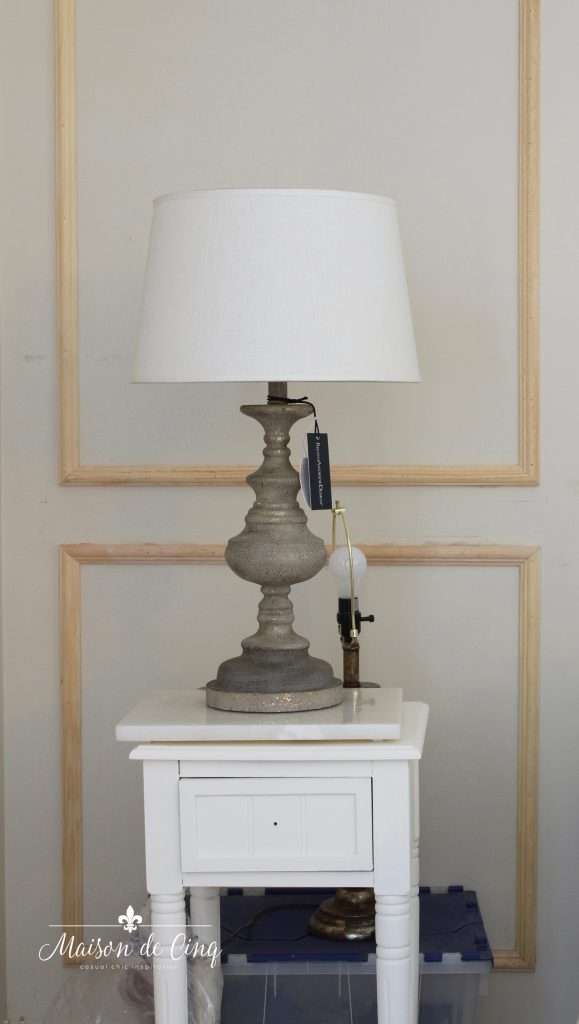 french country lamp choice one room challenge