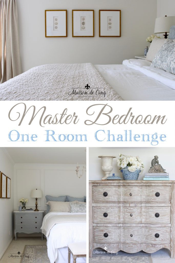 master bedroom makeover reveal one room challenge gorgeous french farmhouse inspired master bedroom