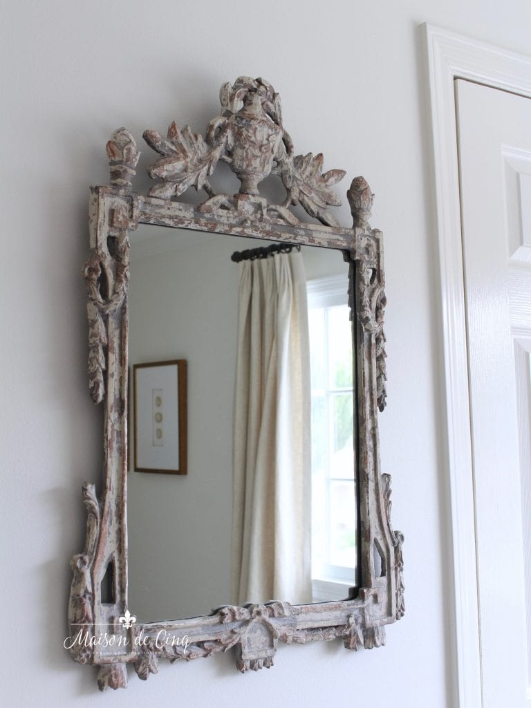french country master bedroom makeover reveal gorgeous antique mirror