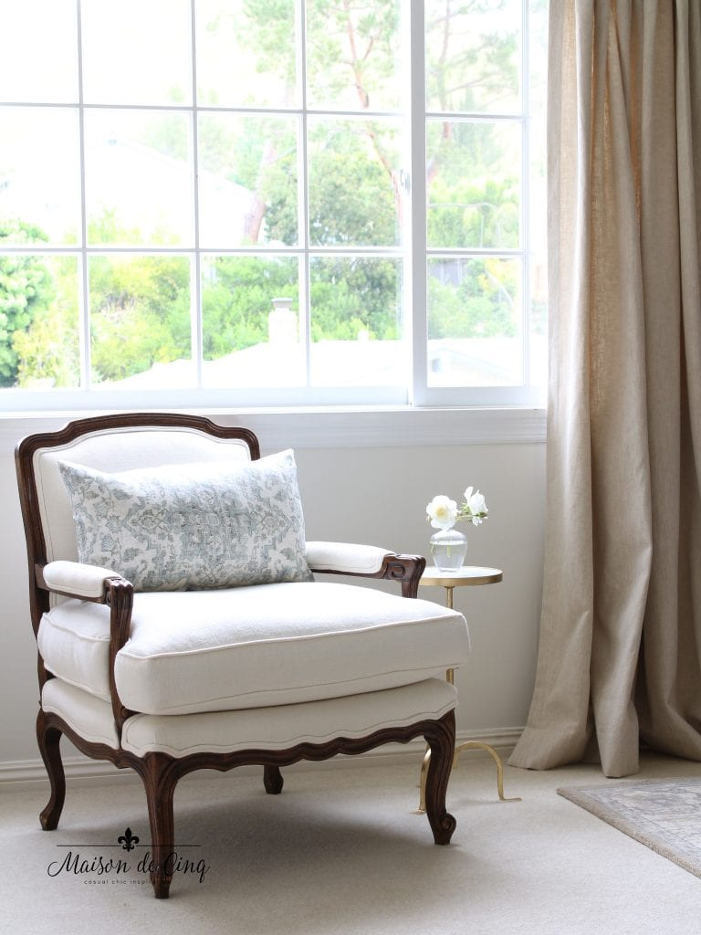 master bedroom makeover bergere chair french country style room