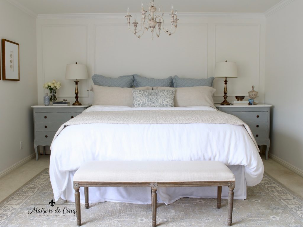 serene and beautiful master bedroom retreat makeover one room challenge