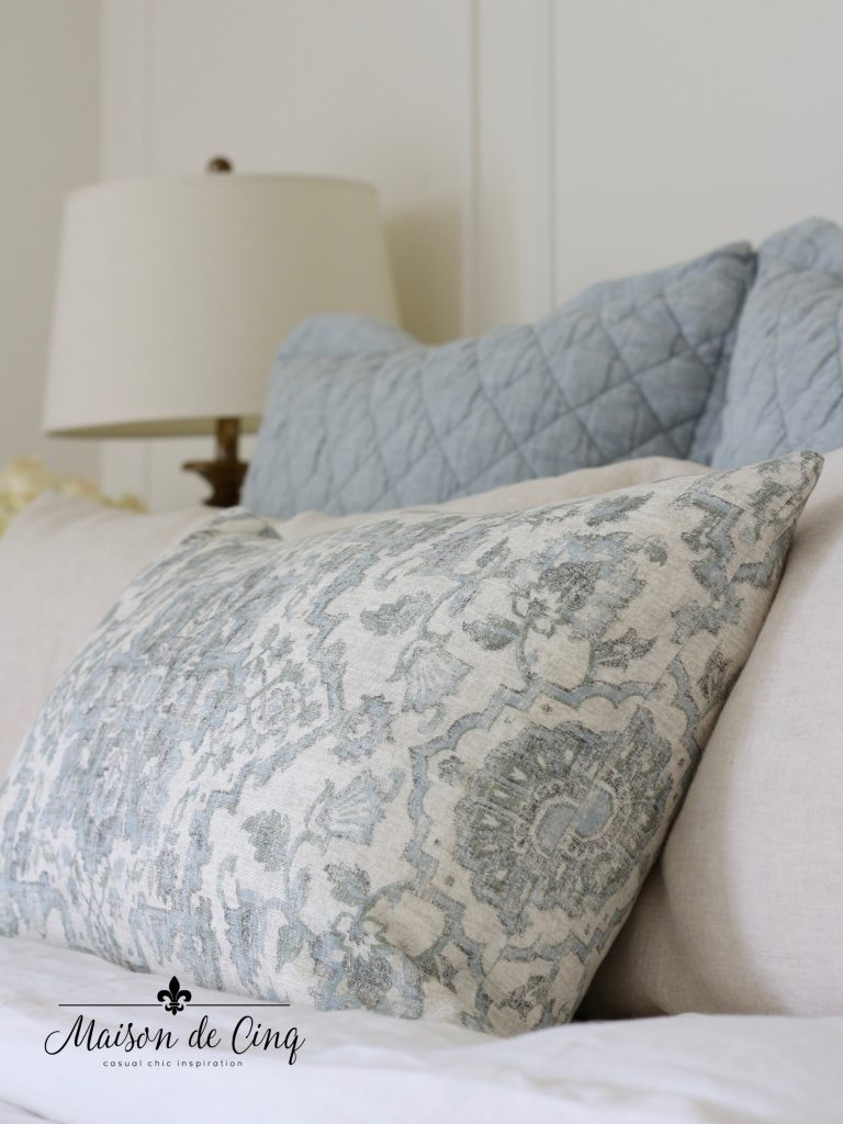 master bedroom bedding blue and white gorgeous pottery barn linens