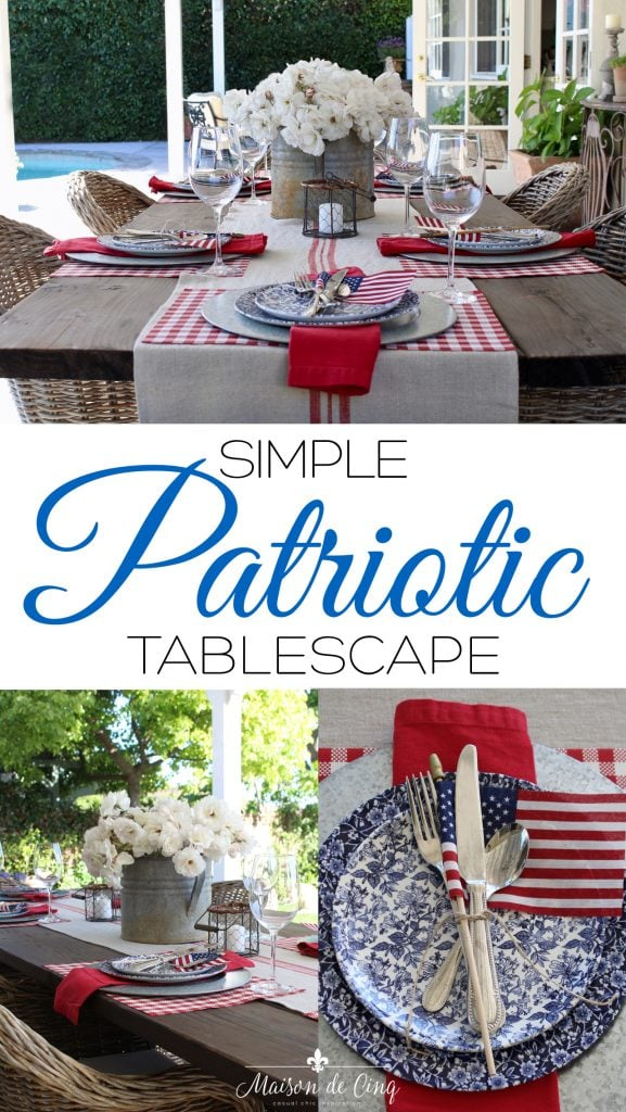 simple patriotic table on Maison de Cinq