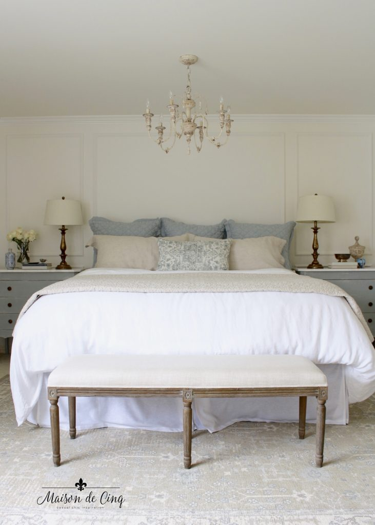 gorgeous french farmhouse master bedroom makeover reveal one room challenge