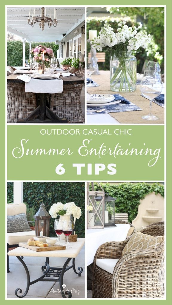 6 Ideas for Casual & Chic (and Easy!) Summer Entertaining graphic Maison de Cinq