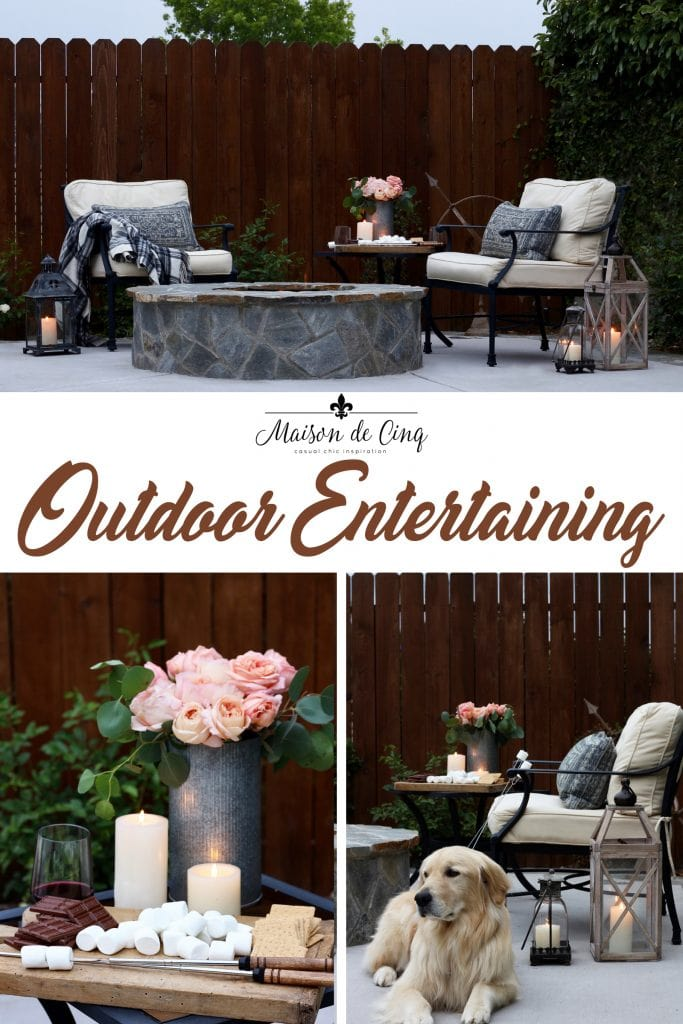 summer outdoor entertaining s'mores by the fire pretty backyard summer evening