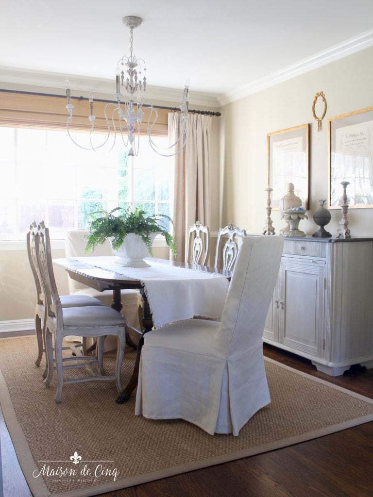 French Farmhouse Summer Decorating Ideas Living Dining Room Tour