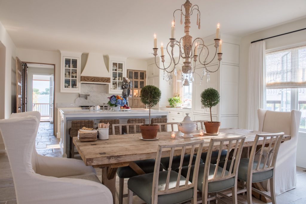 mixing dining chairs in a farmhouse style eat in kitchen french country decor breakfast room