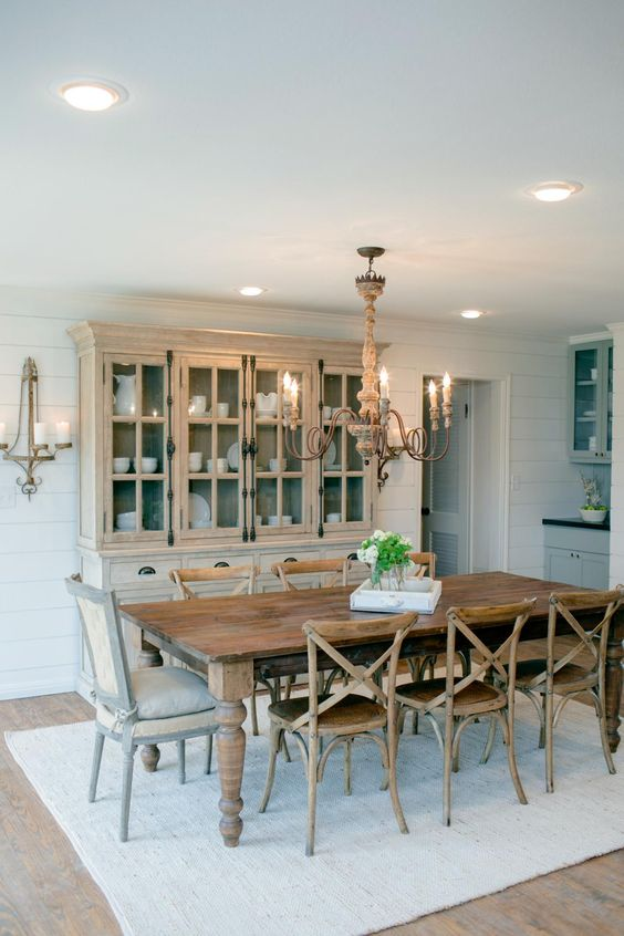 mixing dining room chairs x-back wood chairs and french country end chairs fixer upper dining room