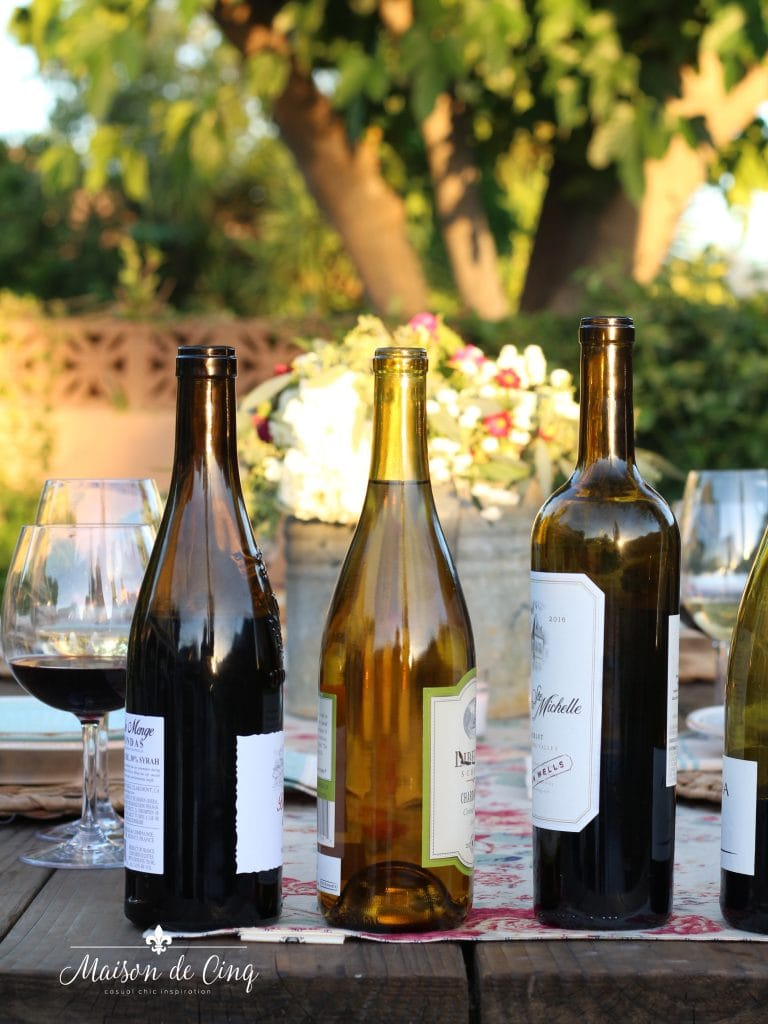 wine and cheese party summer entertaining