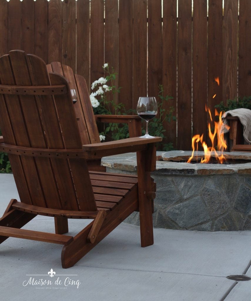 wine at the fire pit summer entertaining