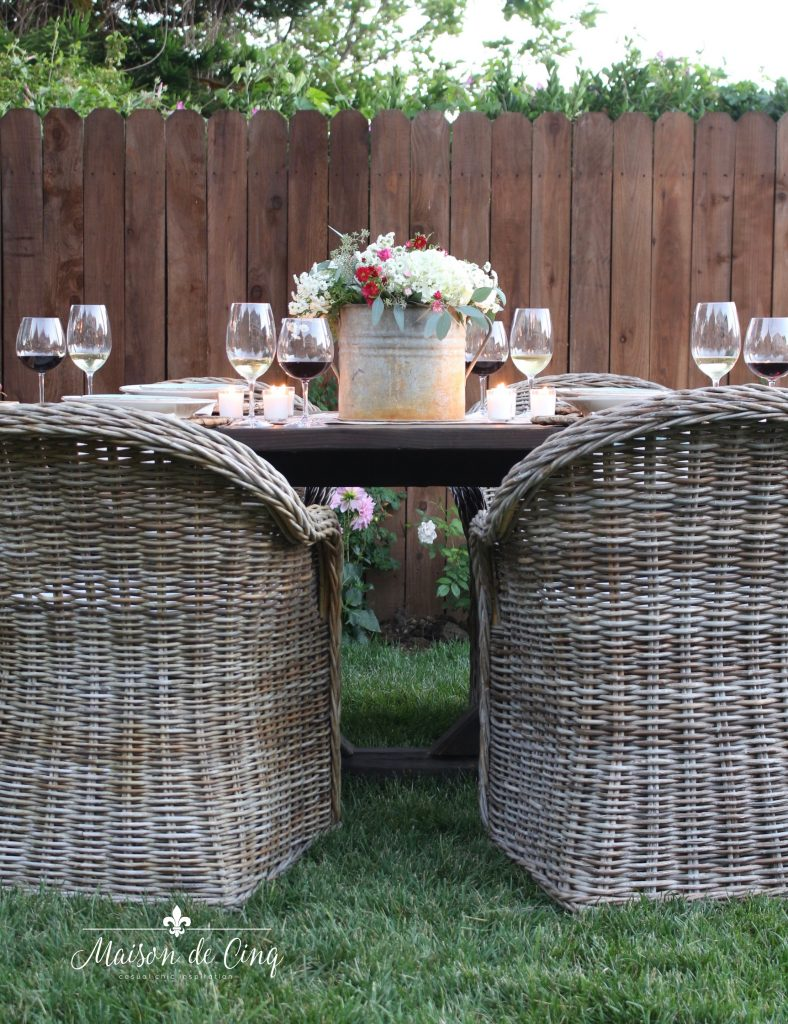 wine and cheese party in the garden outdoor entertaining