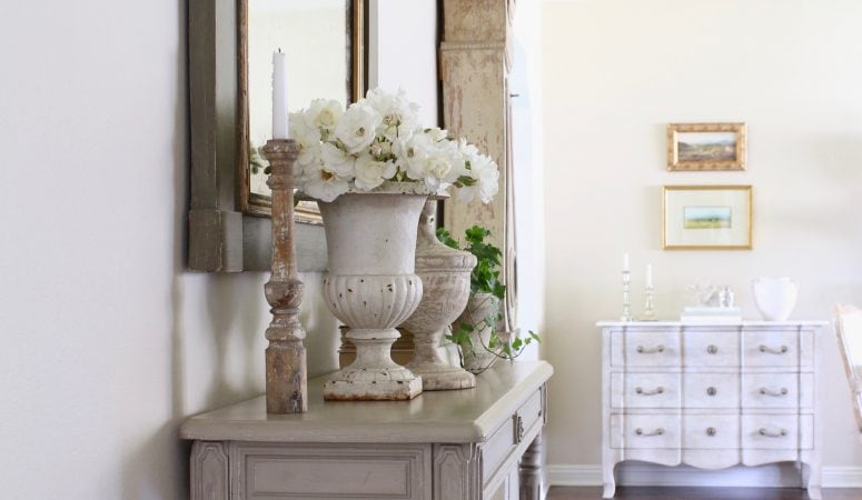 Entry Way Update & My New French Country Sconces