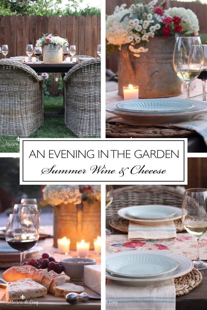 Summer Wine & Cheese Party graphic Maison de Cinq