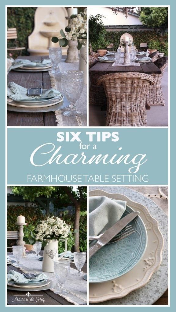 Farmhouse Table Setting graphic Maison de Cinq