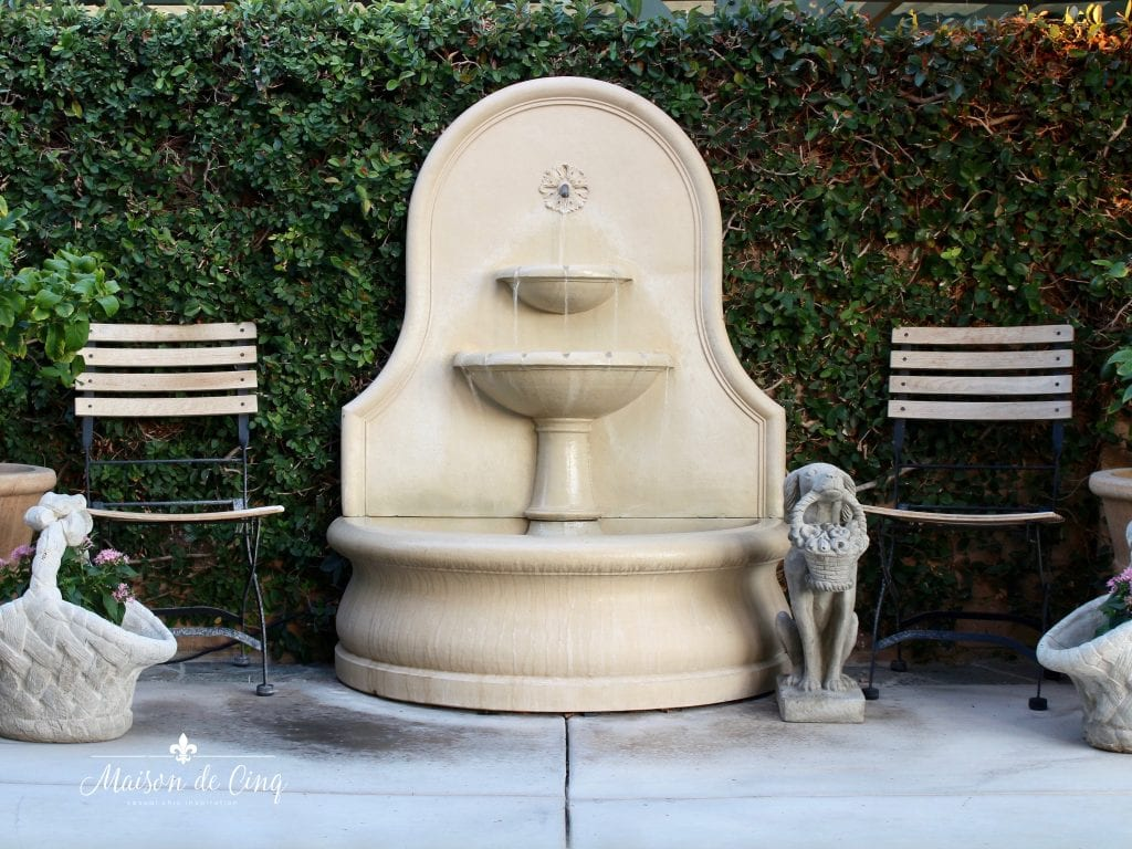 gorgeous outdoor fountain campania french country inspired