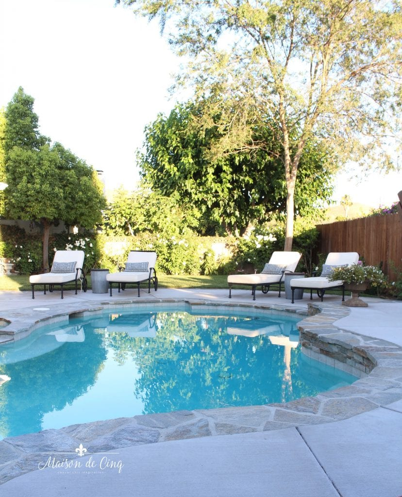 pool and backyard makeover remodel