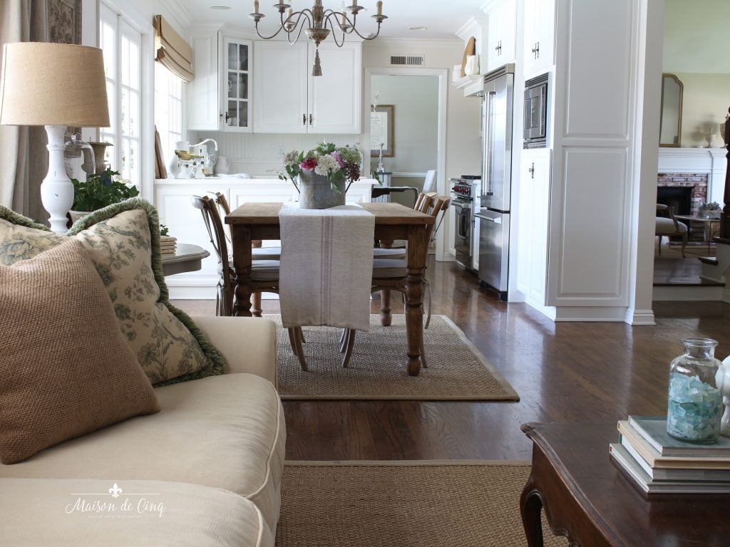 favorite cleaning tips gorgeous French country family room hardwood floors