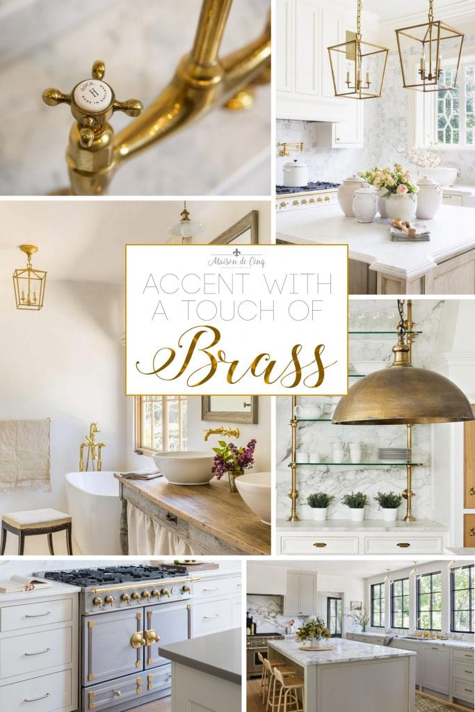 brass hardware in the kitchen and bath trend