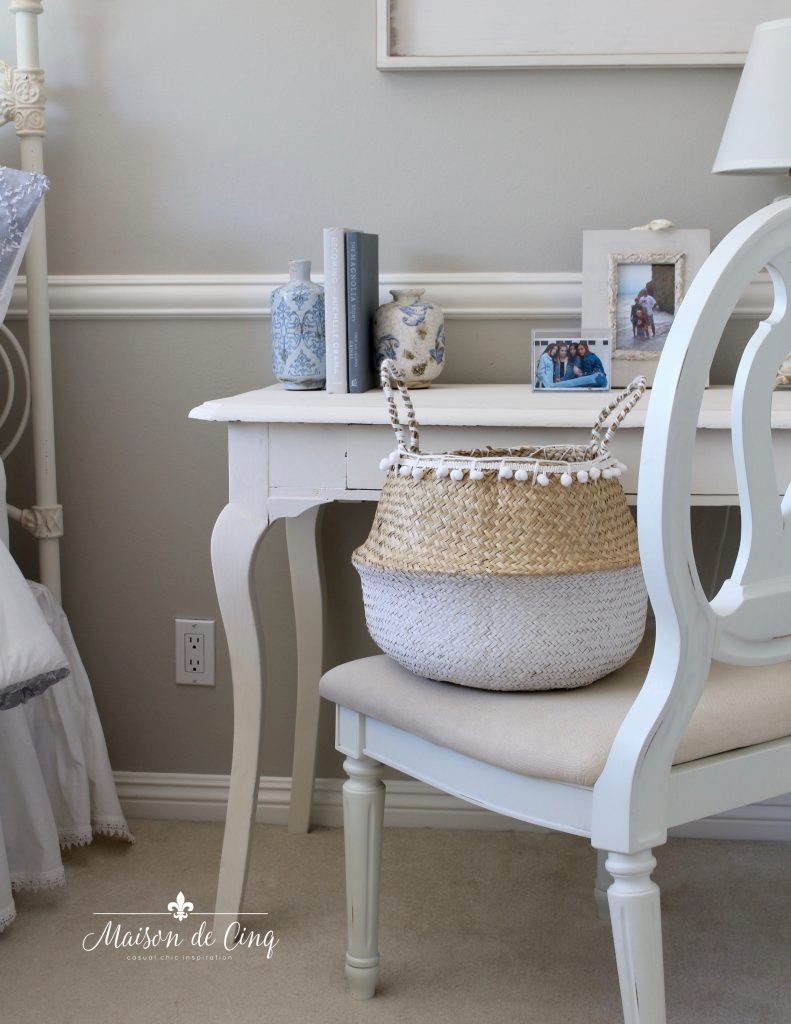 adorable coastal teen bedroom refresh french country details white desk and chair