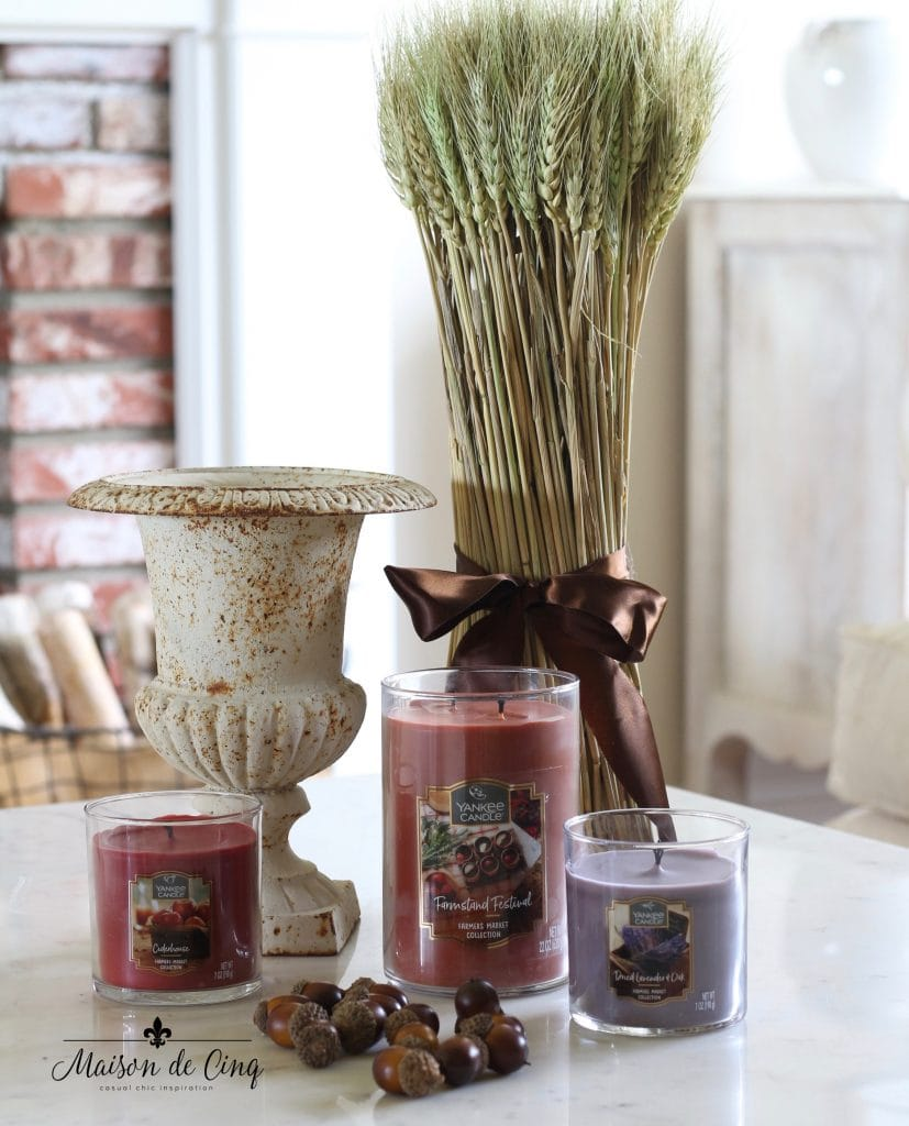 yankee candle farmers market collection fall candle fragrances
