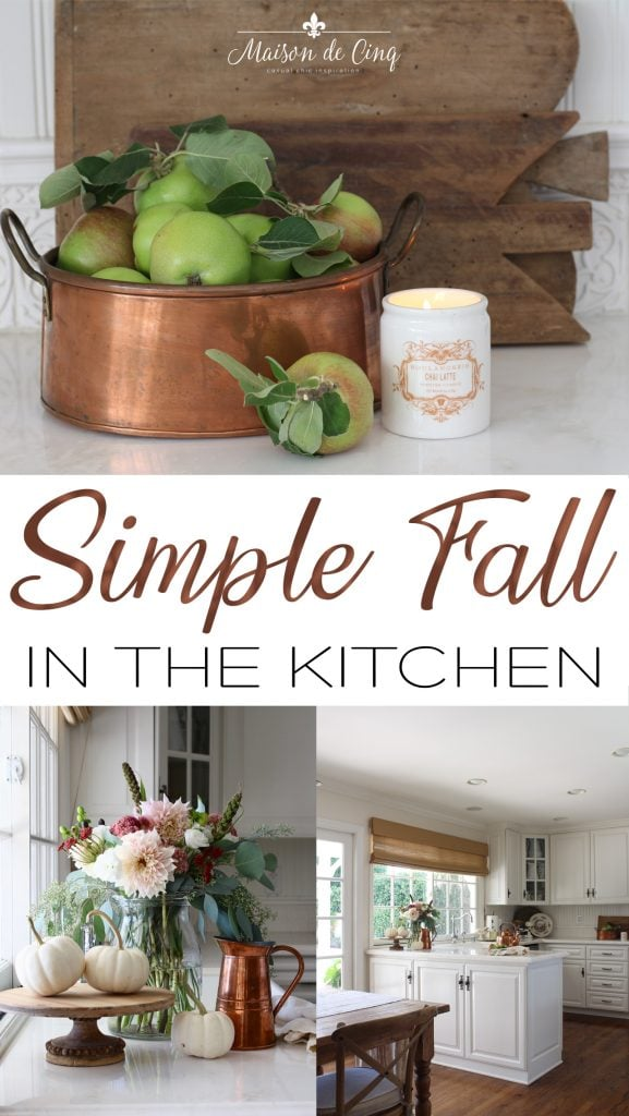 simple fall kitchen decor autumn decorating with copper and flowers