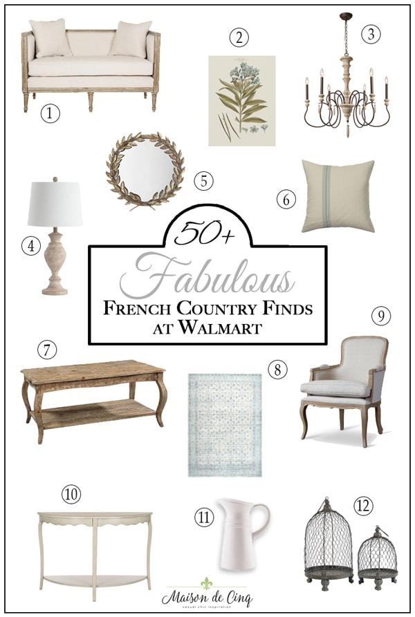 French country finds at Walmart on Maison de Cinq