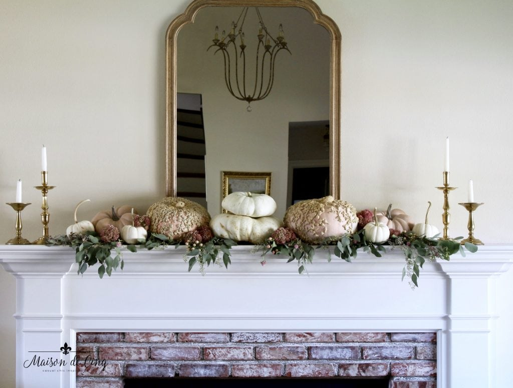 romantic fall mantelscape decorating ideas french country living room