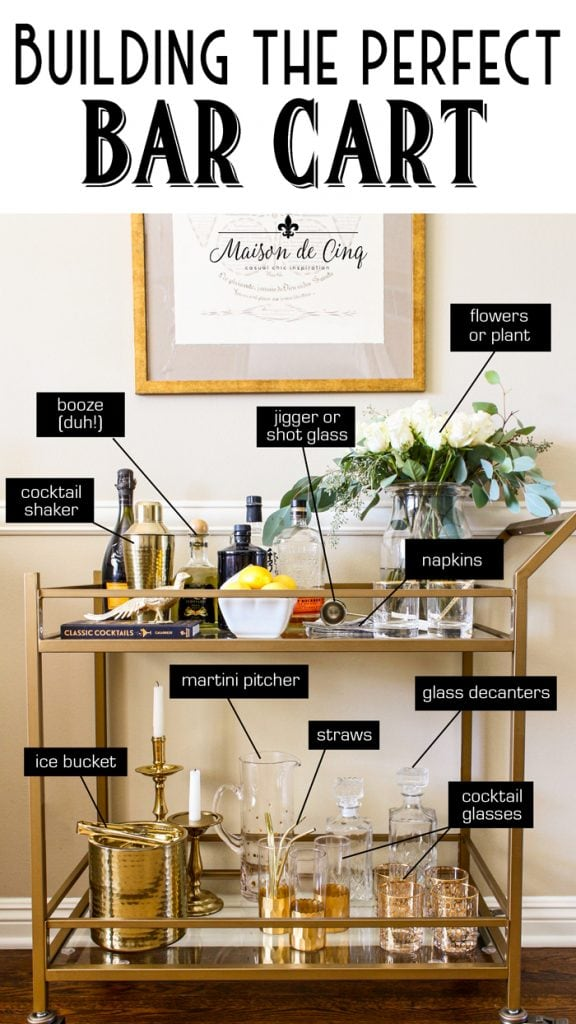 Bar Cart Styling How To Style A Bar Cart Like A Pro