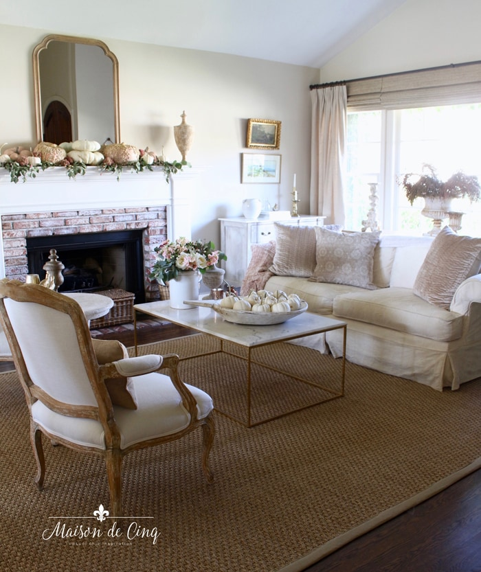 soft colors fall living room pink and white gorgeous french country style