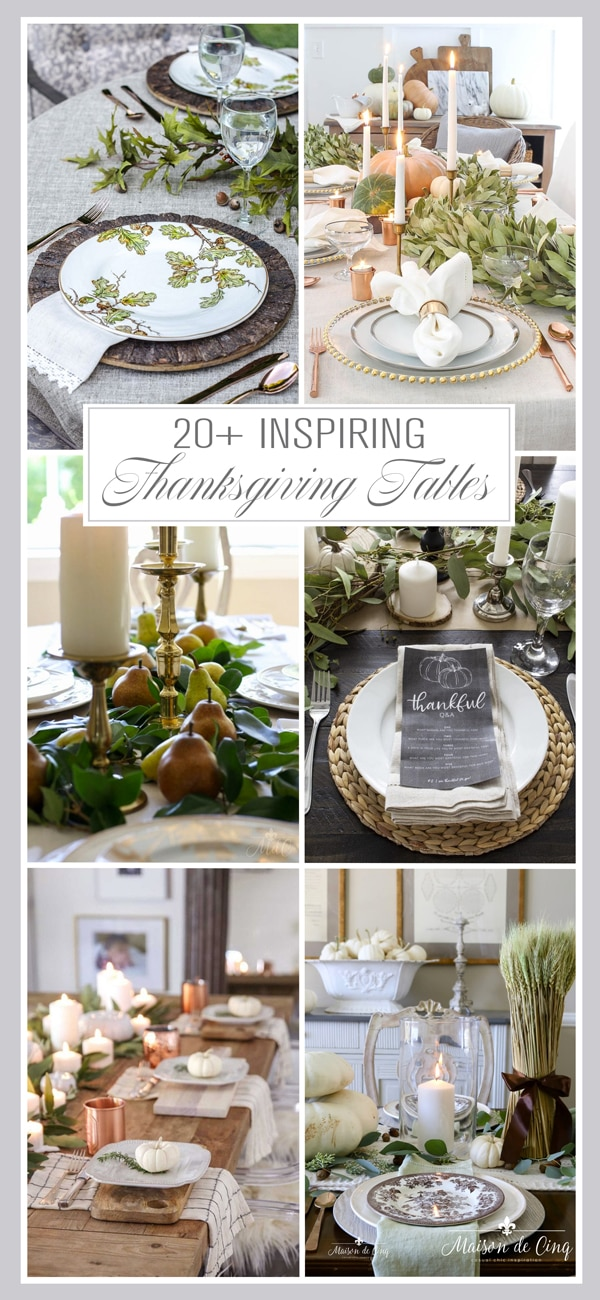 20+ inspiring Thanksgiving tables banner