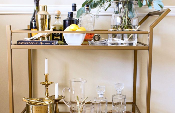 French Country Fridays – How to Style a Gorgeous Bar Cart