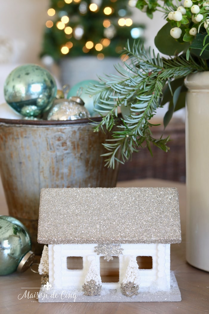 blue Christmas decorating French farmhouse holiday decor ideas