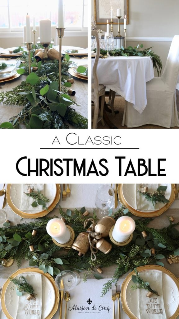 classic Christmas table holiday table setting ideas