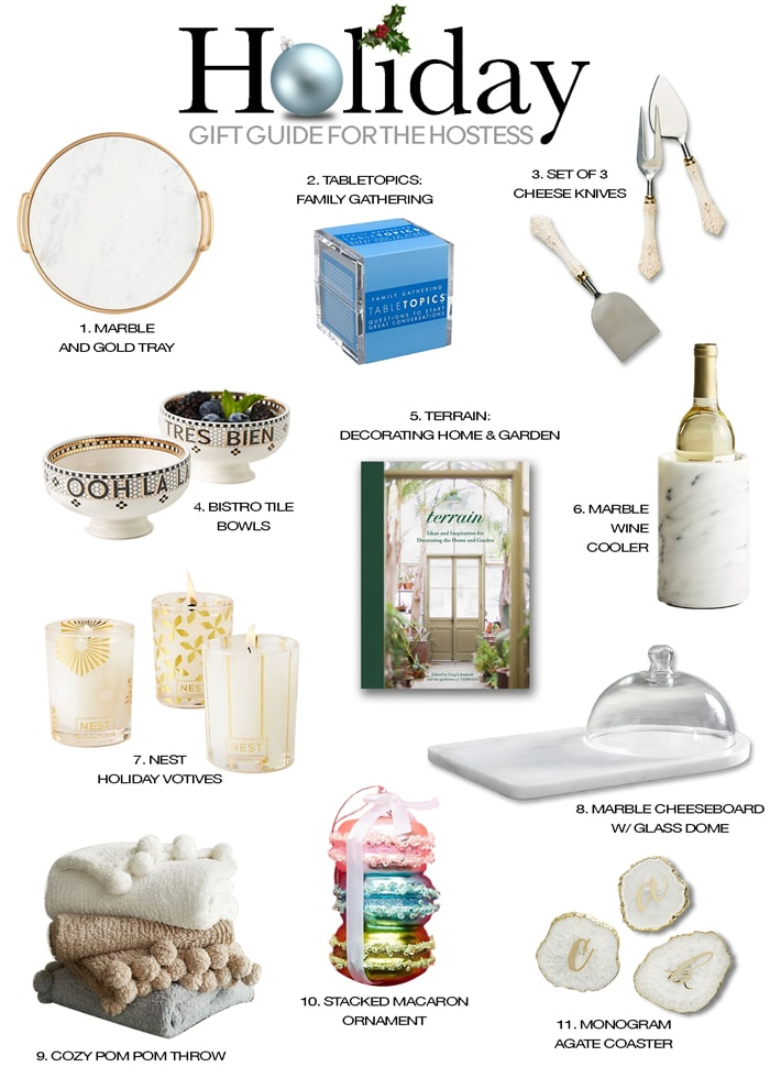 hostess gift ideas holiday gift guide on Maison de Cinq