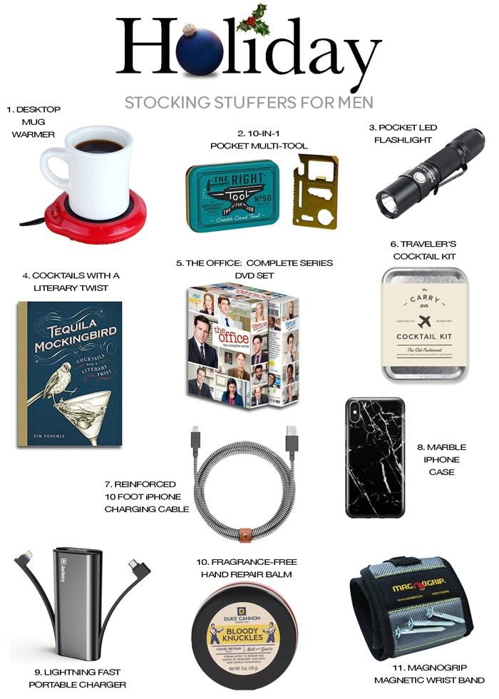 holiday gift guide stocking stuffers men christmas gift ideas
