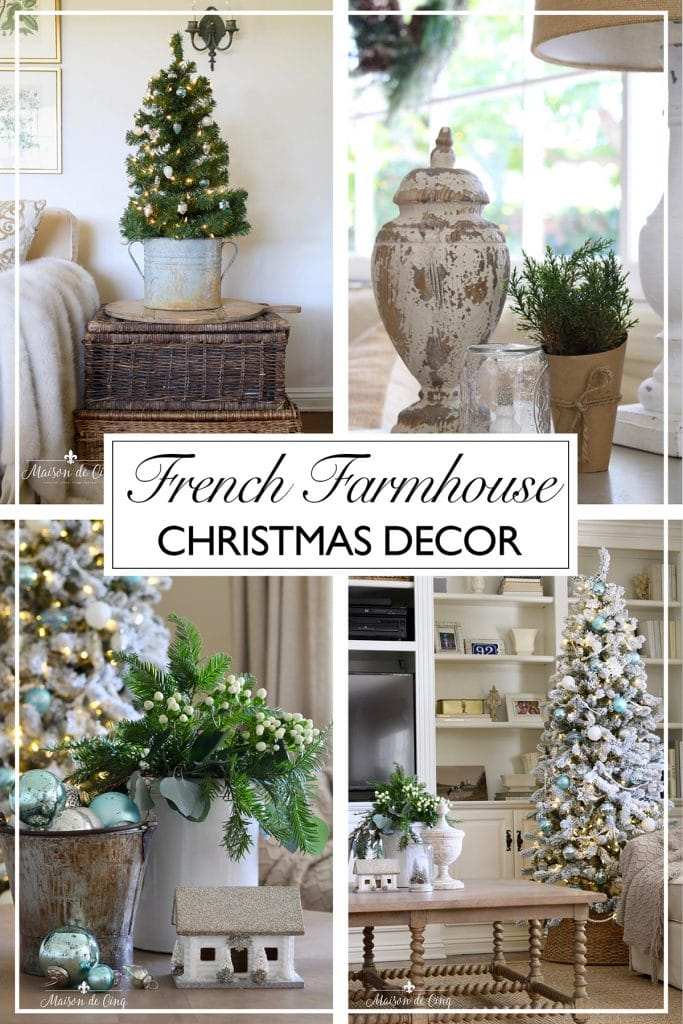 French farmhouse christmas family room