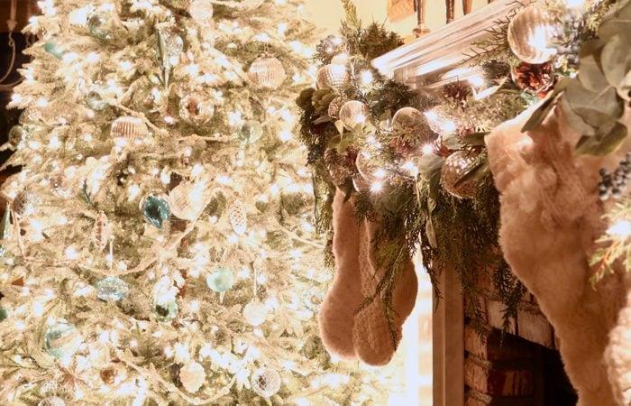 Christmas Lights at Night Holiday Home Tour