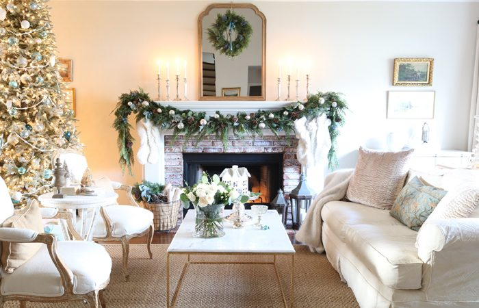 French Inspired Christmas Tour with Touches of Blue
