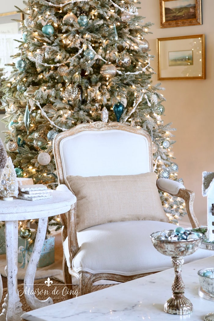 French inspired Christmas tour gorgeous holiday decor tree