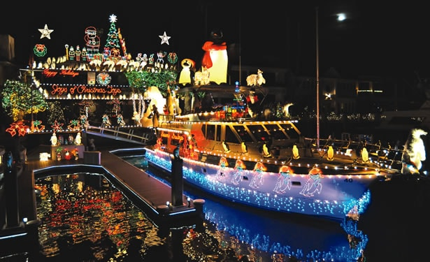 newport beach christmas boat parade holiday events southern california