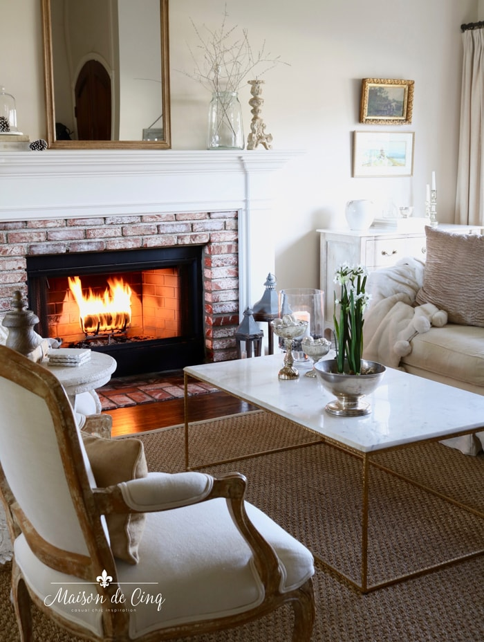 cozy nights by the fire gorgeous french country living room