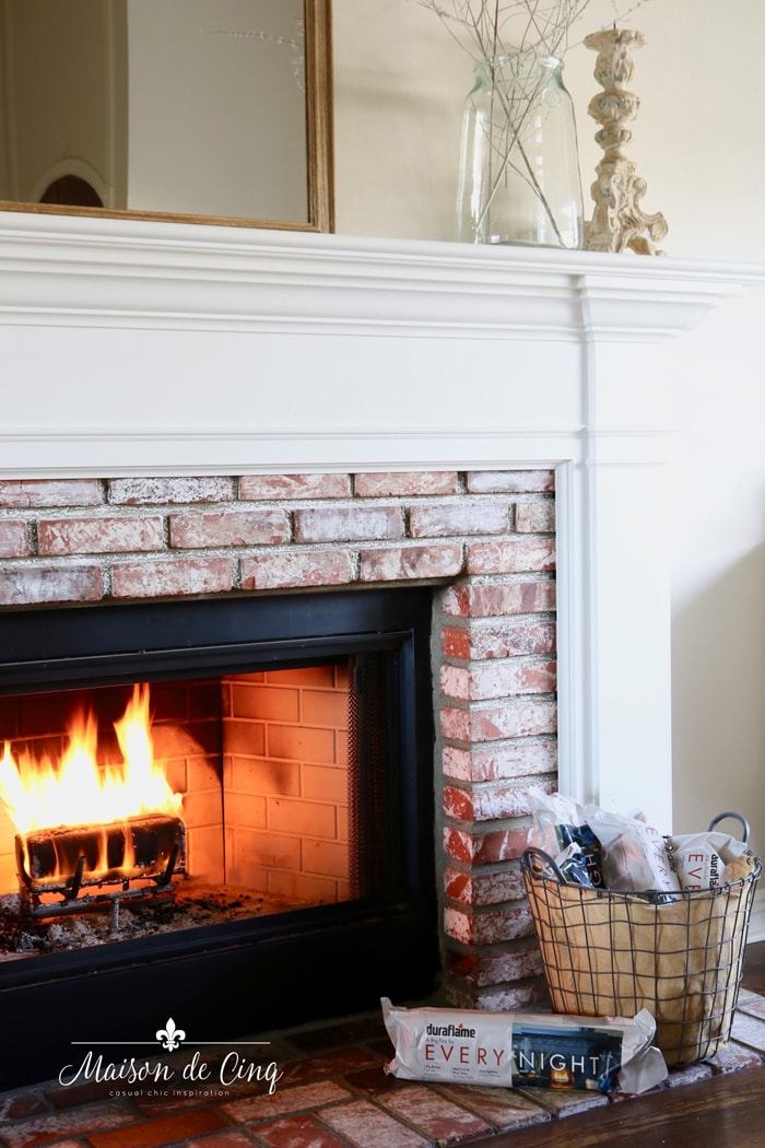 duraflame every night logs by fireplace