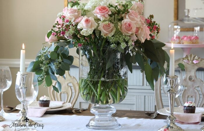 Pretty in Pink Valentine's Day Table Setting