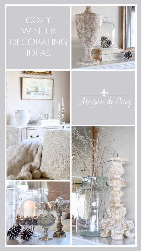 winter decorating ideas graphic Maison de Cinq